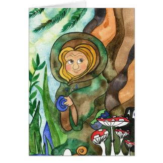 Cartão do duende da terra