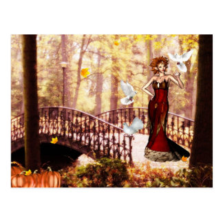 Cartão do duende do esplendor do outono