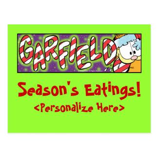 Cartão do Eatings da estação de Garfield Logobox Cartão Postal