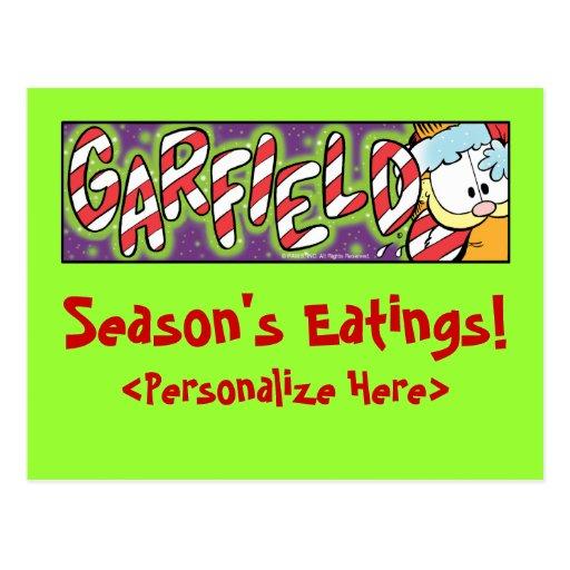 Cartão do Eatings da estação de Garfield Logobox Cartoes Postais