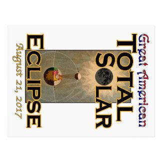 Cartão do eclipse