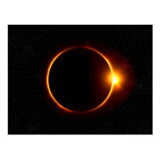 Cartão do eclipse solar