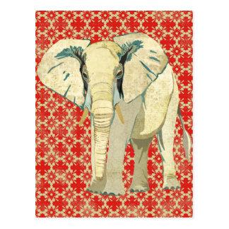 Cartão do elefante branco cartoes postais