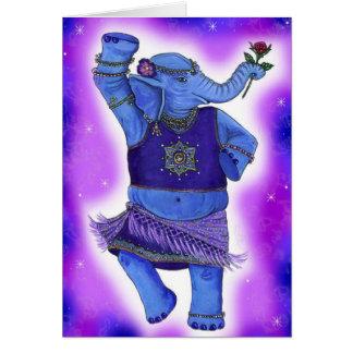 Cartão do elefante da dança