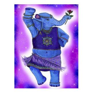 Cartão do elefante da dança cartão postal