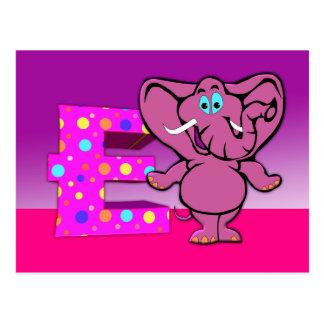 Cartão do elefante da ilustração