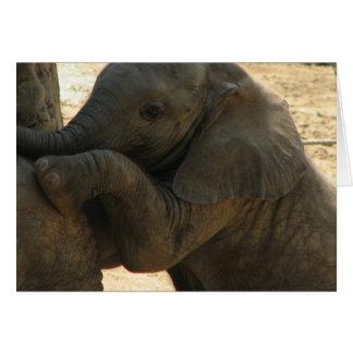 Cartão do elefante do bebê