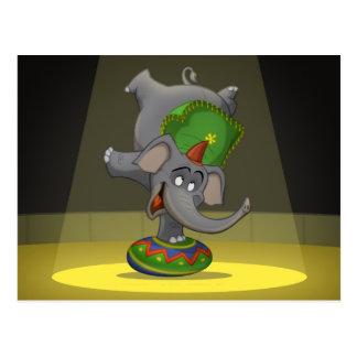 Cartão do elefante do circo