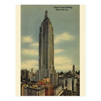 Cartão do Empire State Building NYC do vintage Cartão Postal