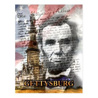 Cartão do endereço de Gettysburg