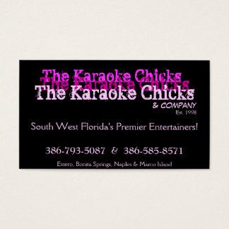 Cartão do entretenimento do karaoke