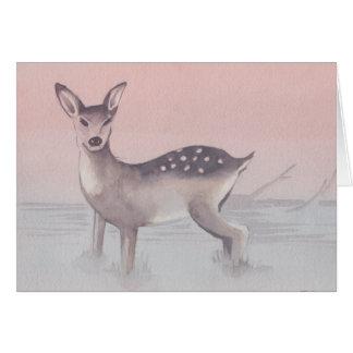 """Cartão do esboço da aguarela dos """"cervos"""""""