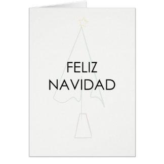 Cartão do esboço da árvore de Natal