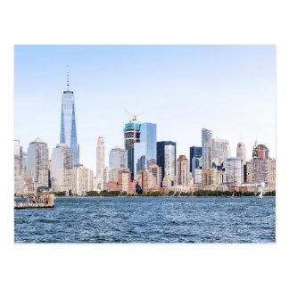 Cartão do esboço da cor do Lower Manhattan