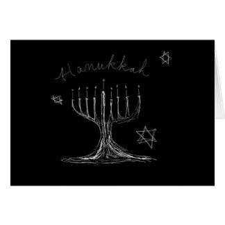 Cartão do esboço de Hanukkah