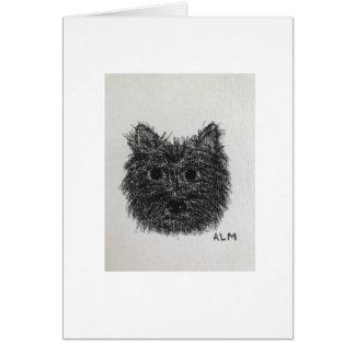 Cartão do esboço de Terrier de monte de pedras