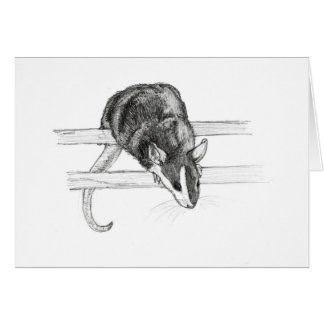 Cartão do esboço do rato do animal de estimação
