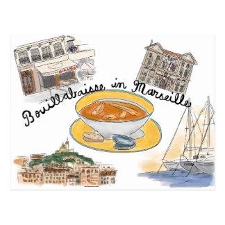 Cartão do esboço do viagem: Bouillabaisse em