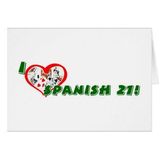 Cartão do espanhol 21