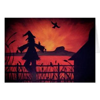 Cartão do espantalho da rocha da mesa