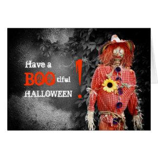 Cartão do espantalho do Dia das Bruxas