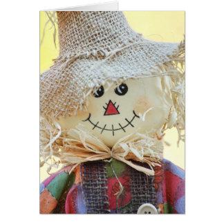 Cartão do espantalho do feriado