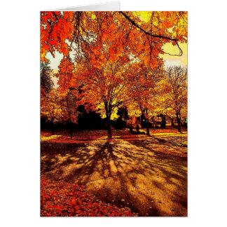 Cartão do esplendor do outono