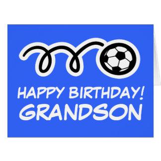 Cartão do esporte do futebol do feliz aniversario