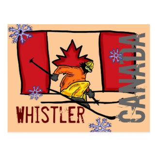 Cartão do esqui de Canadá do assobiador