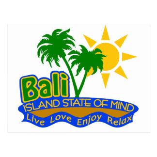 Cartão do estado de ânimo de Bali