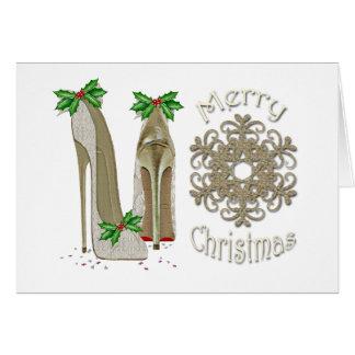 Cartão do estilete do azevinho do Feliz Natal