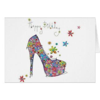 Cartão do estilete do feliz aniversario