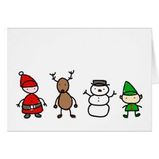 Cartão do estilo do miúdo de Cuties do Natal