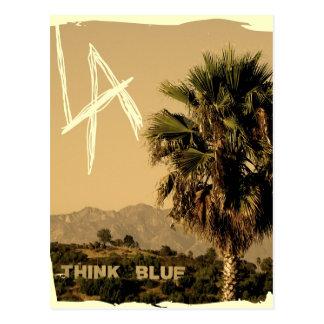 Cartão do estilo do vintage de Los Angeles!