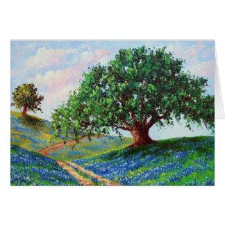 """Cartão Do """"estrada Bluebonnet"""" (cartão vazio)"""