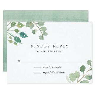 Cartão do eucalipto RSVP