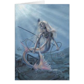 Cartão do explorador da sereia