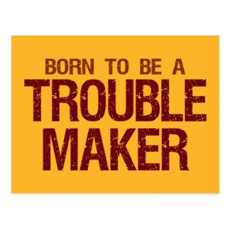 Cartão do fabricante de problema