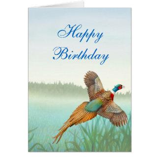 Cartão do faisão do feliz aniversario
