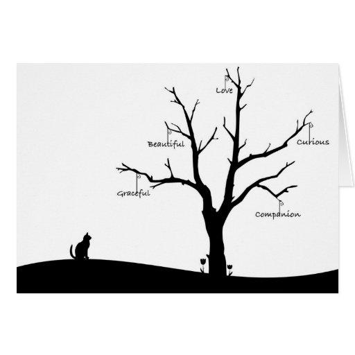 Cartão do falecimento do gato