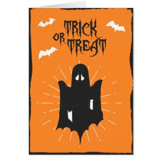 Cartão do fantasma do Dia das Bruxas