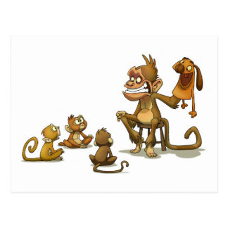 Cartão do fantoche do macaco