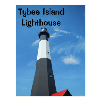 Cartão do farol da ilha de Tybee
