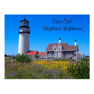 Cartão do farol das montanhas de Cape Cod