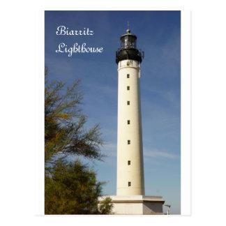 Cartão do farol de Biarritz
