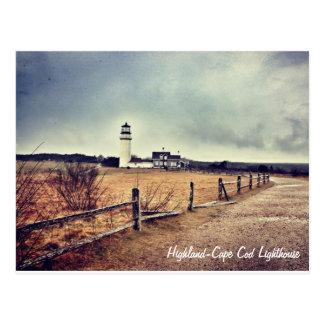Cartão do farol de Cape Cod (montanhas)