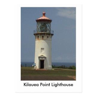 Cartão do farol do ponto de Kilauea