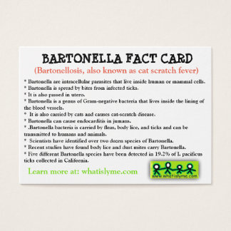 Cartão do fato de Bartonella