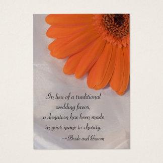 Cartão do favor da caridade do casamento da