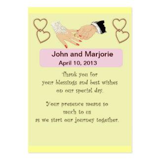 Cartão do favor/lugar do casamento cartão de visita grande